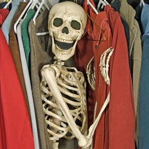 "Skeleton in my closet says ""Let's DEAL!"""